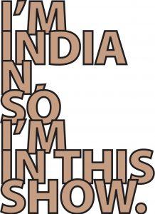 <b>Divya Mehra<b>. <i>Contemporary South Asian Art</i>, 2018-2010. Acrylic vinyl (Pantone 17-1328 TCX Indian Tan). Courtesy of the artist and Georgia Scherman Projects, Toronto.