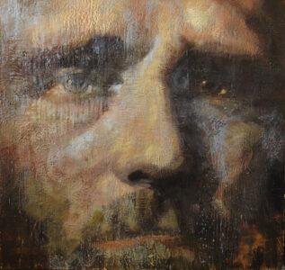 Tony Scherman, The Blue Rain, 2005-07. Encaustic on Canvas. Winnipeg Art Gallery, Gift of Ian and Catherine Delaney, 2018-3.