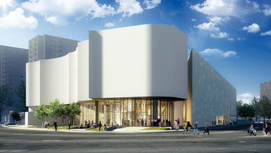 Qaumajuq (Inuit art centre) exterior rendering. Michael Maltzan Architecture Inc.