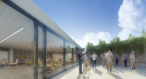 Architectural Rendering of the Rooftop of the WAG Inuit Art Centre, opening in 2020. Photo: Michael Maltzan Architecture.