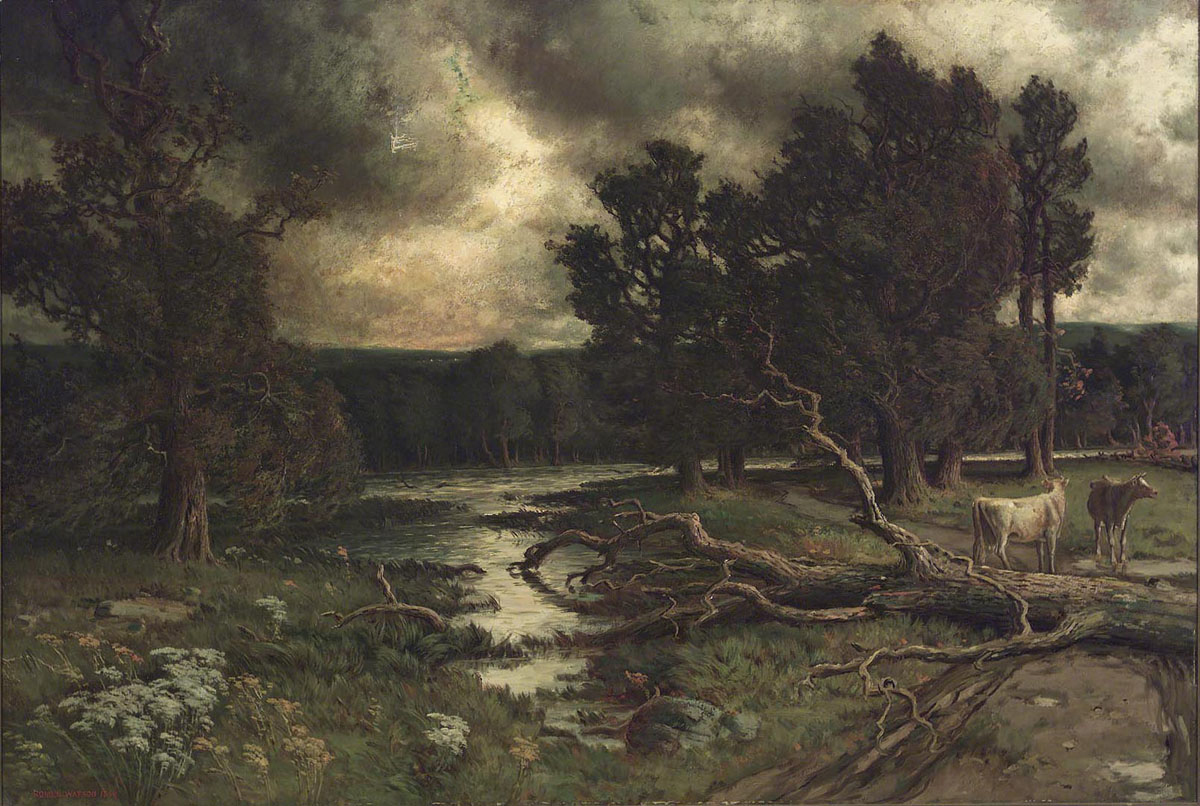 G-47-164 a Near the Close of a Stormy Day Homer Ransford Watson