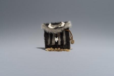Qaunaq Mikkigak. Untitled, 1976. nylon, ivory, leather (sealskin), stone. Government of Nunavut Fine Art Collection, On long-term loan to the Winnipeg Art Gallery, 2.77.16.