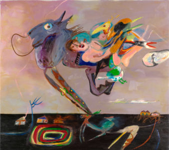 Kittie Bruneau. Les Passages, 1981. Oil on canvas, 161.7 x 184.3 cm. Collection of the Winnipeg Art Gallery. Gift of Barbara Stimpson, G-84-351. Photograph: Leif Norman, courtesy of the Winnipeg Art Gallery.