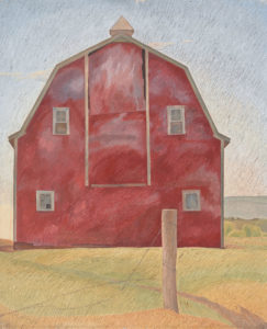 Lionel LeMoine FitzGerald. Red Barn, 1934. oil on canvas, 43.2 x 35.8 cm. National Gallery of Canada, Ottawa. Gift from the Douglas M. Duncan Collection, 1970. L2019.2.15.