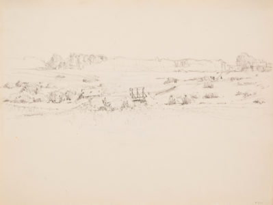 Lionel LeMoine FitzGerald.Study for Summer Afternoon, The Prairie, 1921.graphite on paper,21.3 x 27.7 cm.Collection of the Winnipeg Art Gallery;Acquired with funds from The Winnipeg Foundation, G-90-540.