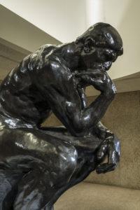 Auguste Rodin. The Thinker, 1902. Cast bronze.