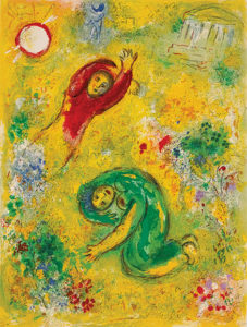 Marc Chagall. The Trampled Flowers, c. 1956-61, printed in 1961. NGC/MBAC, Ottawa. Gift of Félix Quinet, Ottawa, 1986, in memory of Joseph & Marguerite Liverant. ©Daphnis & Chloé, Acc. 29763.37; Mourlot 342.©SODRAC 2015 & ADAGP 2015, Chagall ®.Photo ©NGC