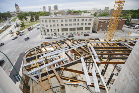 MIKE DEAL / WINNIPEG FREE PRESSConstruction continues at the Winnipeg Art Gallery for the Inuit Art Centre which is set to open in 2020.190628 - Friday, June 28, 2019.