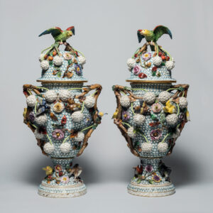 Meissen (German). Modeller: Johann Joachim Kändler, German, 1706–1775. Schneeballen urn, 18th century. porcelain, 80.4 cm. Collection of the Winnipeg Art Gallery; Gift of the Honourable Douglas D. Everett and Family, 2017-560.1 to 4. Photo: Ernest Mayer