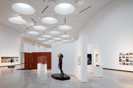 Qilak, Main Inuit Gallery, Qaumajuq, the Inuit art Centre at the Winnipeg Art Gallery. Photo by Lindsay Reid.