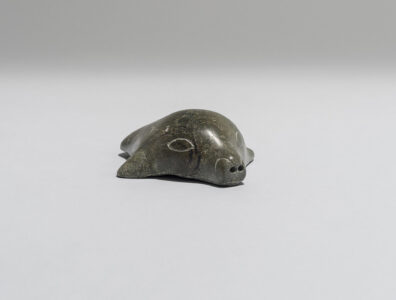 Mary Pitseolak. Inuit (Kinngait), b. 1931. Seal-Head, 1968. stone. Government of Nunavut Fine Art Collection. On long term loan to the Winnipeg Art Gallery, 1.70.125