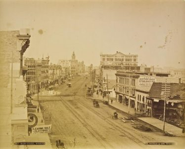 William Notman, Main Street, Winnipeg, c. 1888, albumen print, Collection of the Winnipeg Art Gallery; Acquired with funds from the Photography Endowment of The Winnipeg Art Gallery Foundation Inc. 2006-109.