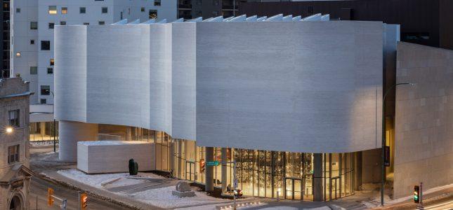 Qaumajuq, the Inuit art Centre at the Winnipeg Art Gallery. Photo by Lindsay Reid.